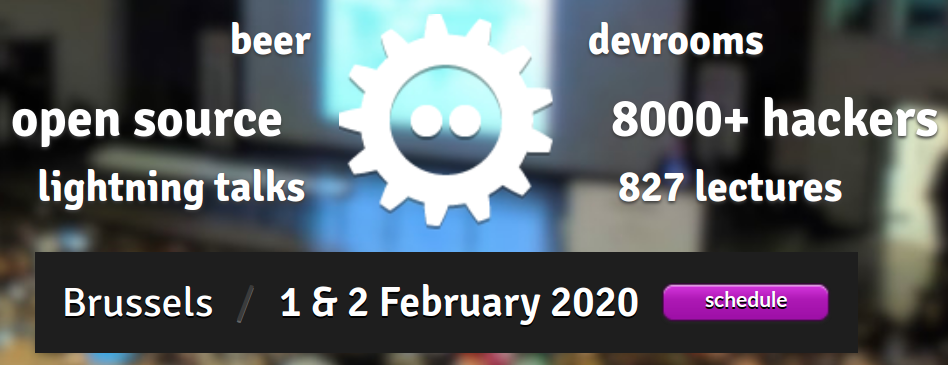 Two accepted talks at FOSDEM 2020 in Brussels